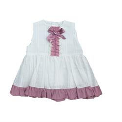 1411 Vestido plumeti berenjena niña