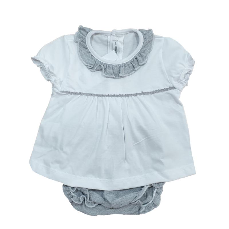17581 Conjunto braguita Macasar bebé unisex