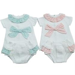 938-011 Conjunto combinado topos bebé niña