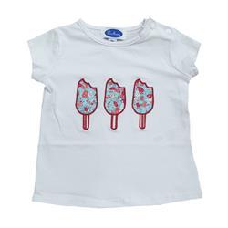 F33 5/S21 Camiseta m-c Helado flores unsiex