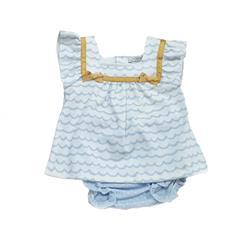 24409 Vestido olas bebé niña