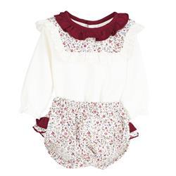 Conjunto flor 17658 bebé niña