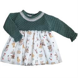 Vestido animales 987-012 bebé niña